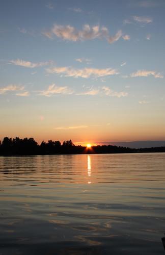 sunset lake clouds finland pietarsaari jakobstad pirilo