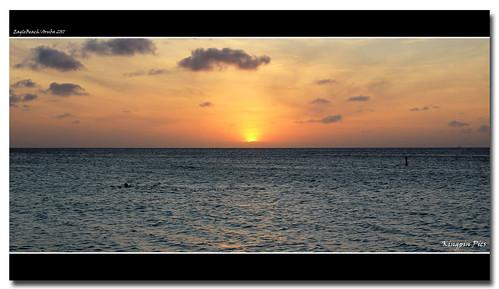 sunset aruba eaglebeach eaglebeacharuba