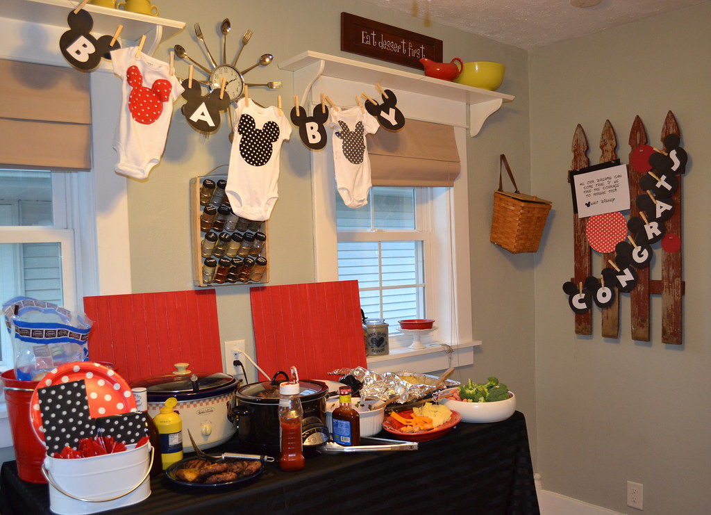 Mickey mouse couples shower newlywoodwards for Baby mickey decoration ideas