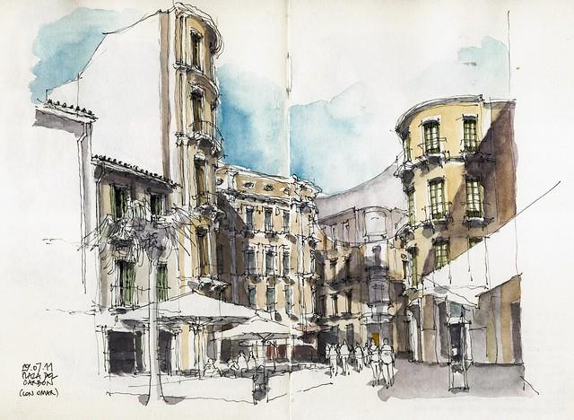 Málaga, Plaza del Carbón
