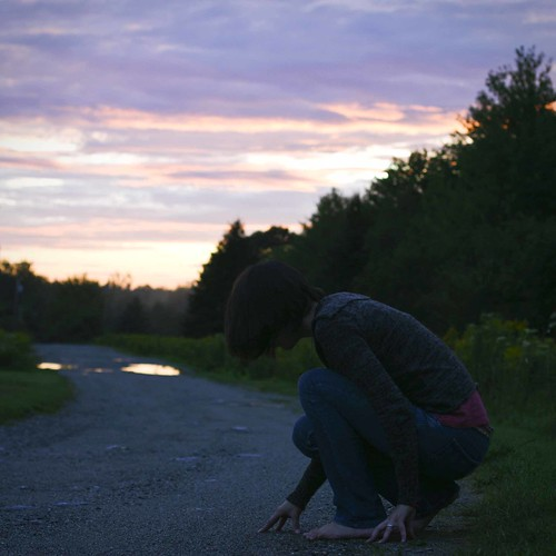 sunset summer sky girl night explore writings