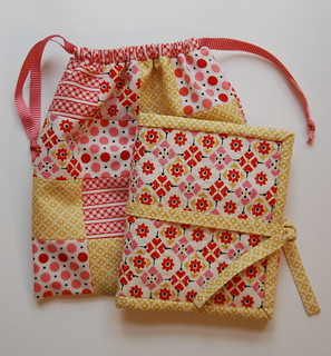 sewing kit and patchwork bag