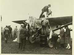 Spirit being fueled at Curtiss Field, Long Island.
