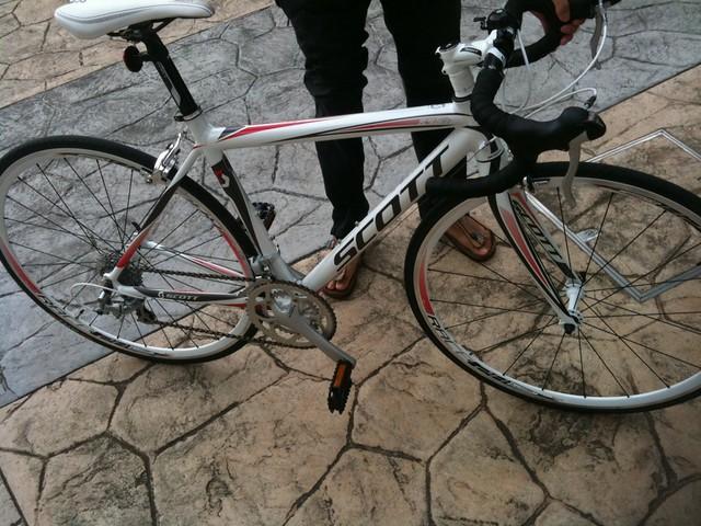 試乗したScottのロードバイク