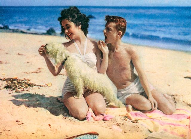 Roddy Mcdowall And Elizabeth Taylor & 7
