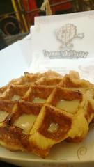 meal, breakfast, belgian waffle, food, dish, dessert, snack food, waffle,