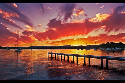 Colourful Lake Macquarie Sunset HDR