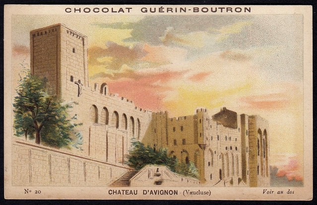 French Tradecard - Chateau d'Avignon