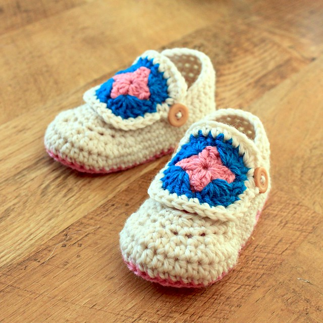 PATTERN – Crocheted Baby Bear Booties — Baby Bear Booties