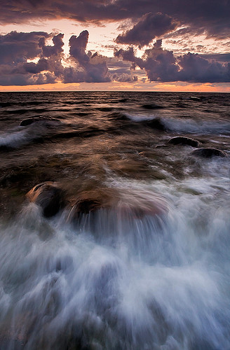 sunset sea sky water clouds landscape rocks estonia absolutelystunningscapes