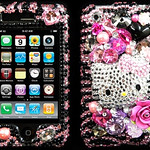 pink & black hello  kitty