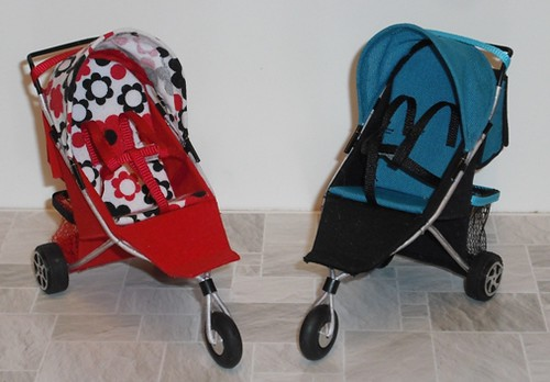 Dollhouse 3-wheel strollers