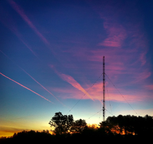 cameraphone morning blue red orange tower radio sunrise iphone 366 wgy