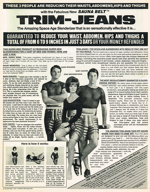 Vintage Ad #1,681: Trim-Jeans Will Make You Lose Inches!