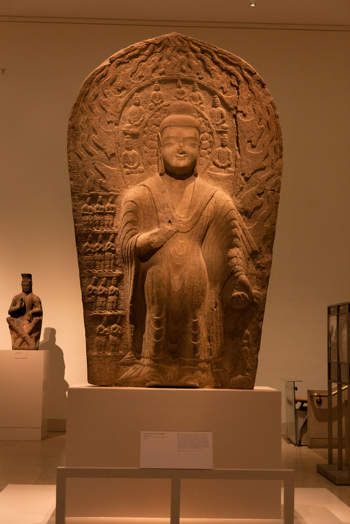 Northern Wei dynasty (386-534), dated 489-95 Shanxi Province Stone  The Metropolitan Museum allows photo shooting providing there is no financial gain.  Please respect their policy