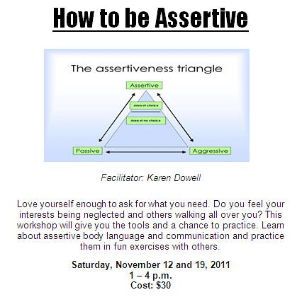 Assertiveness Workshop | Flickr - Photo Sharing!
