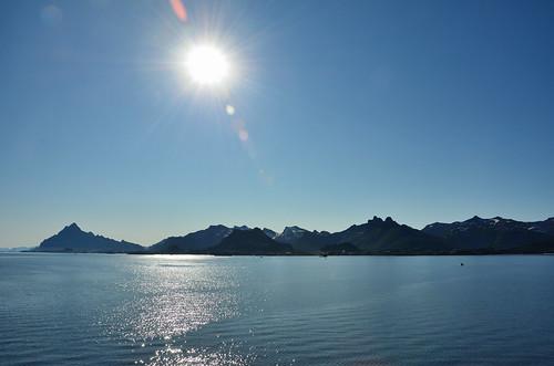 Contre-jour shot of the Lofoten