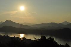 Posta de sol al riu Mekong