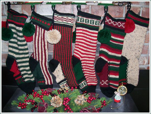 Nubby Rustic stockings 007