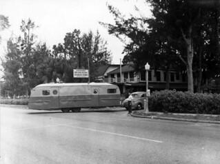 Trailer enters the Bradenton Trailer Park: Bradenton, Florida