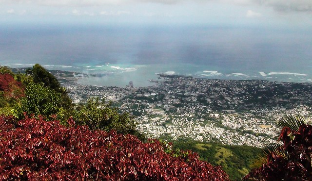 Puerto Plata as seen from atop Mount Isabel de Torre
