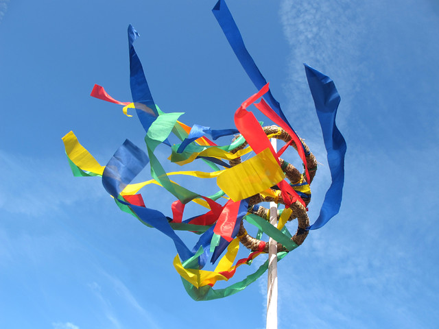 Maypole with colourful Ribbons