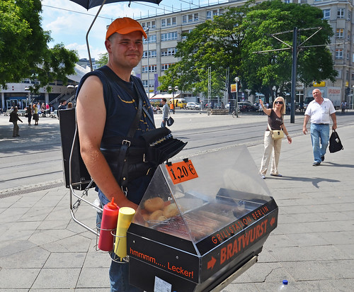 travel photos mobile bratwurst in berlin