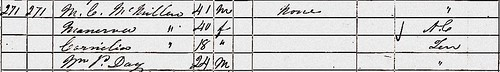 Cornelia A McMillan 1850 US Census