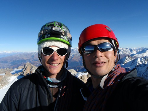 At the summit of Aig. Chardonnet (3824m)