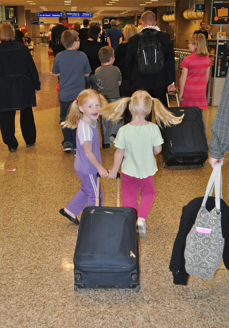 twins hair suitcase