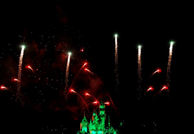 Fireworks at Disneyland