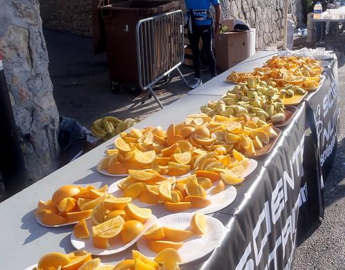 Nice marathon - oranges