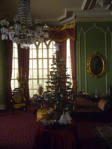 English Drawing Room with Tree