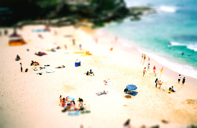 Tiny people take Tamarama