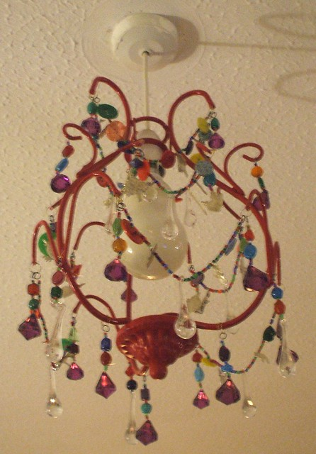 Handmade chandelier - turned off