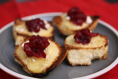 Sweet Rolls with Brie Rouzaire Nangis and Leftover Cranberry Sauce