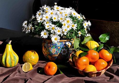 Margherite e mandarini.