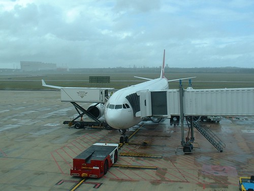 Qantas Airbus 330 that took us to Hong Kong