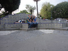 Laura Beckler, Rachel Kennel, and Stephanie Rheinheimer at a talavera park