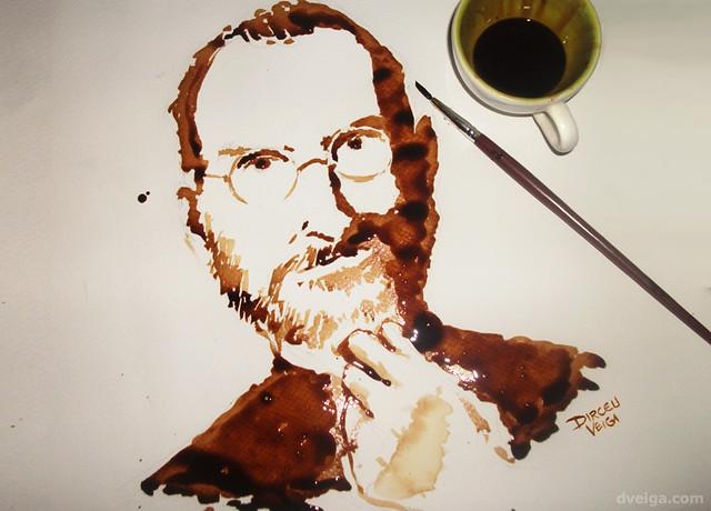 Personen mit Kaffee malen
