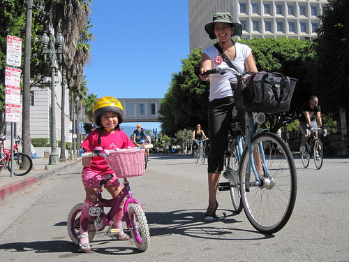 City Hall photo op during CicLAvia on October 9, 2011