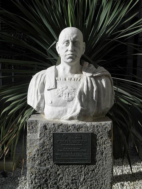 Bust of Publio C. Escipion (Scipio Africanus) in Cartagena (Qart Hadasht - Carthago Nova)