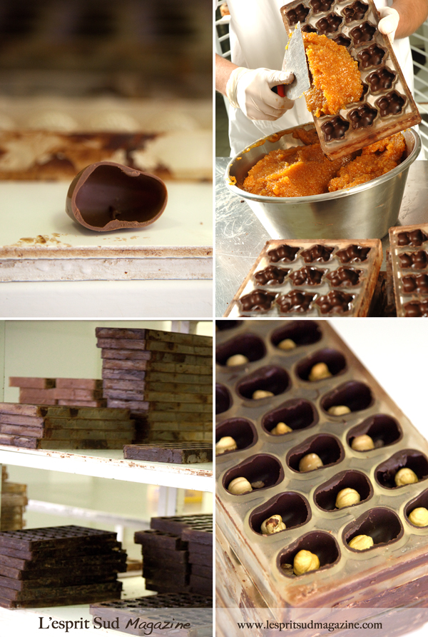 Chocolate moulding techniques - Puyricard Workshop