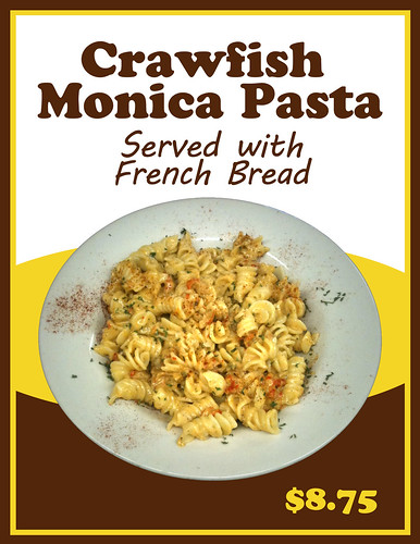 LaPlace Frostop Crawfish Monica Pasta by LaPlace Frostop