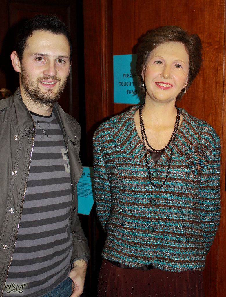 Me with President Mary McAleese - Dublin Wax Museum, IE