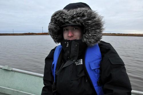 Handsome Man in Boat on Kuskokwim