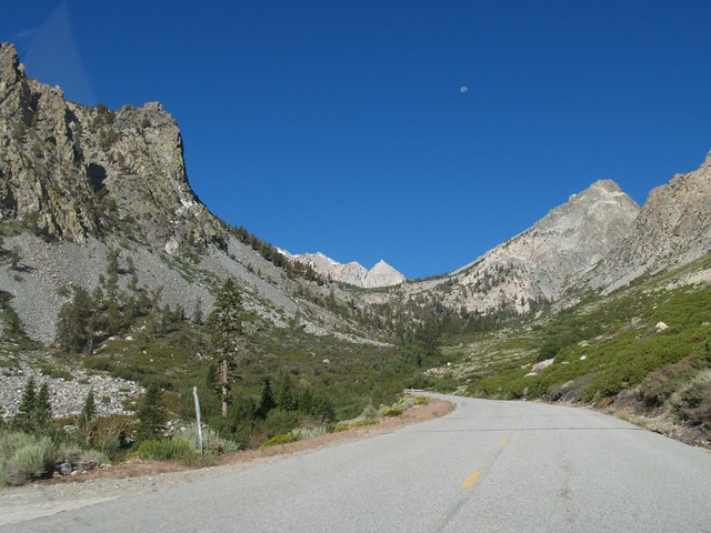 Onion Valley Road - Moon over Onion Valley