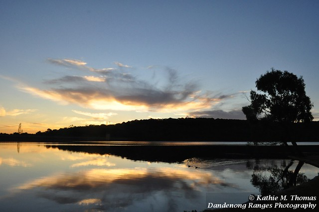 Sunset at Lysterfield Lake