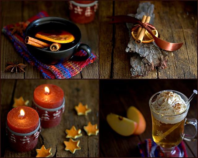 Wärmender Christkindlmarkt-Glühwein und Apfelpunsch mit Sahnehaube