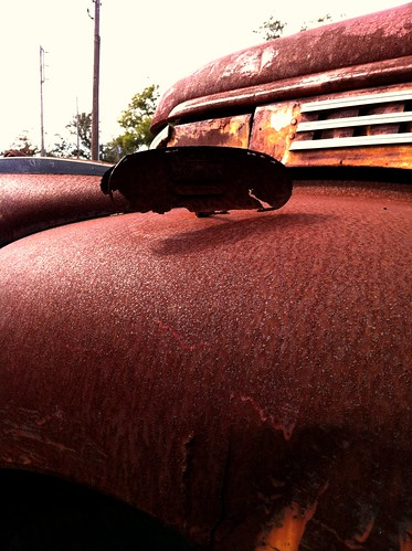 red broken truck mississippi rust rearviewmirror rusted